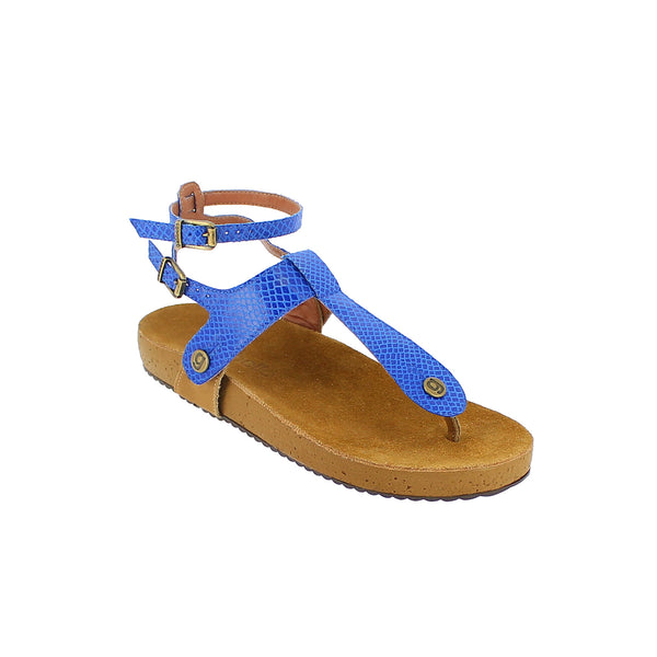 gabriela gb17 snake royal blue strap - galibelle