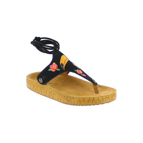 gabriela gb21 black suede bird strap - galibelle