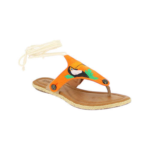 gal gl26 orange suede bird strap - galibelle
