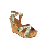 giovanna gv05 green leaves satin strap - galibelle