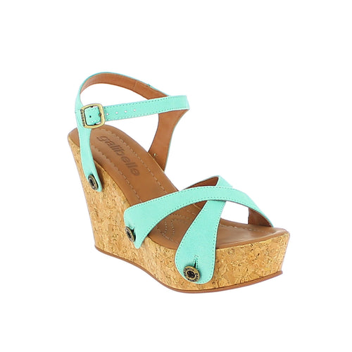 giovanna gv05 light green suede strap