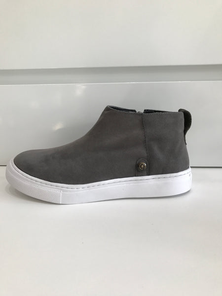 galibelle graphite suede with white rubber sole sneaker/shoe