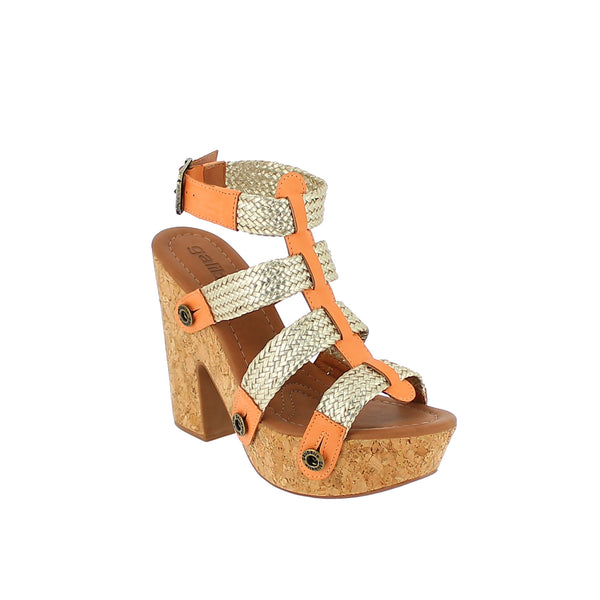 sara sr21 combo light gold braid/peach atanado strap - galibelle