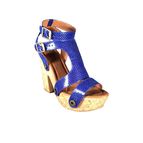 sara sr19 snake royal blue strap - galibelle