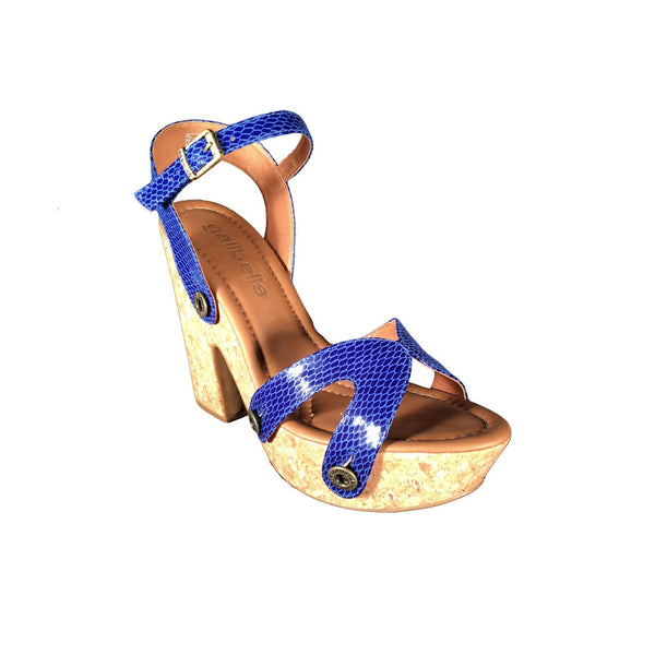 sara sr01 snake royal blue strap - galibelle