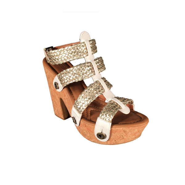 sara sr21 combo white varnish/light gold braid strap - galibelle