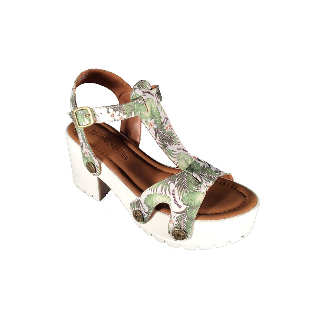 michelle me02 green leaves satin strap