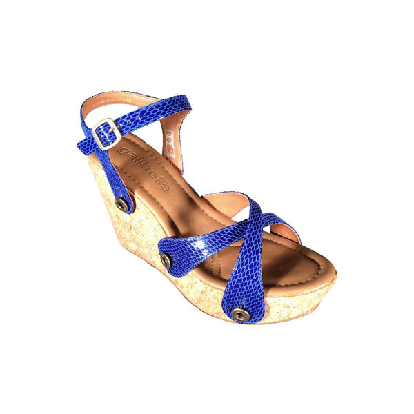 giovanna gv05 snake royal blue strap - galibelle
