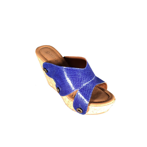 giovanna gv23 snake royal blue strap - galibelle