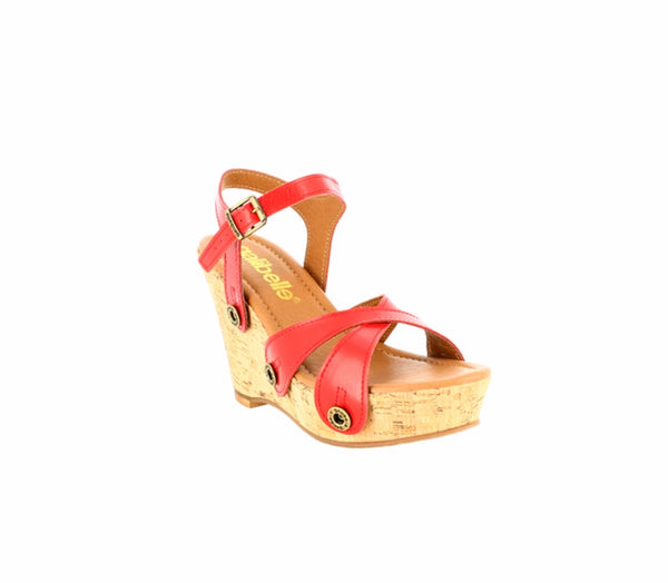 Giovanna galipack camel/red/snake