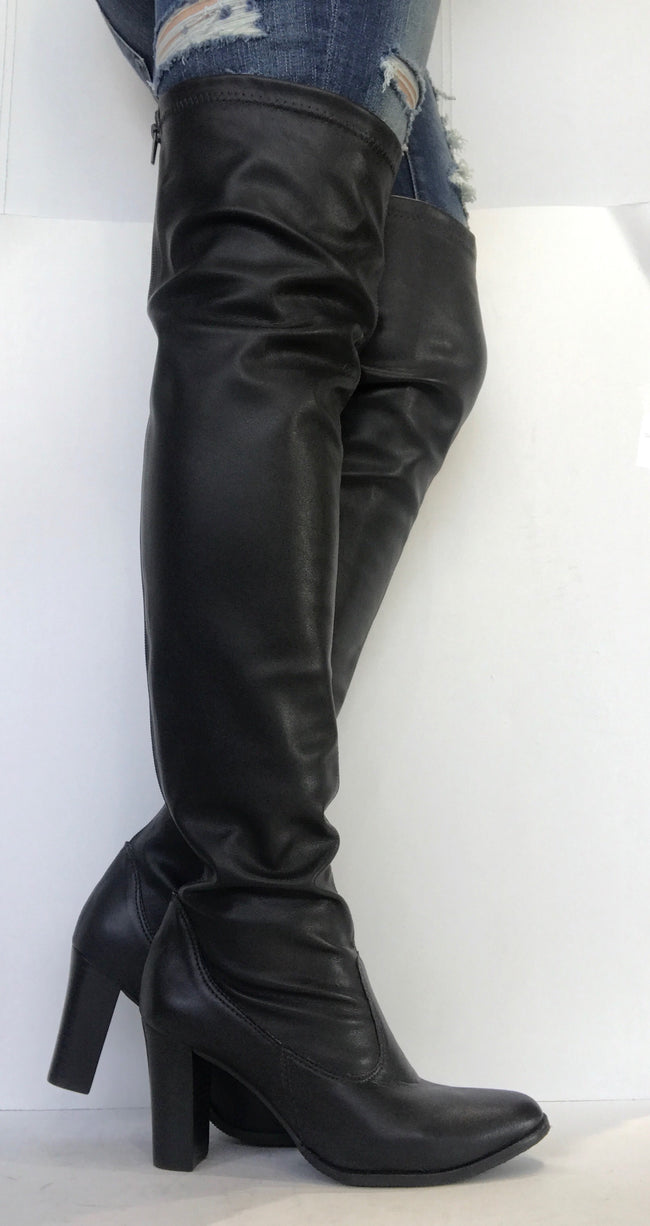bt00 black over the knee syn boot 38700-2 - galibelle