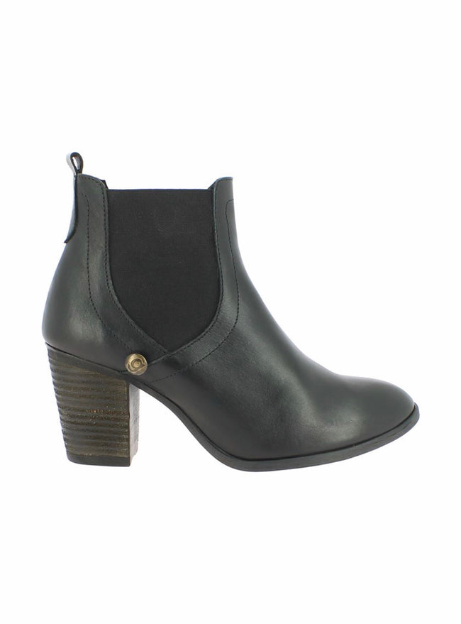 bt00 Black Laurie leather high ankle boot