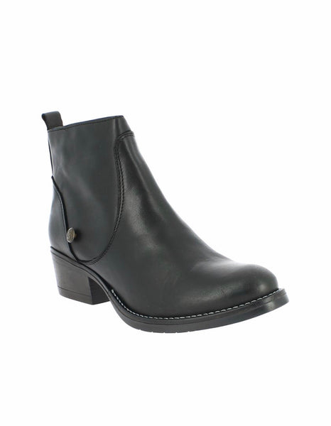 bt00 black western leather ankle boot