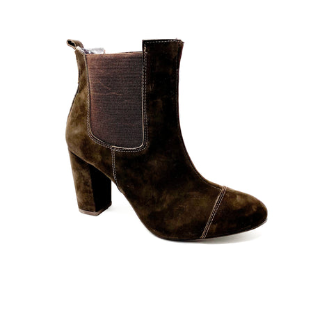 bt00 suede brown LOW ankle boot 1504010 br