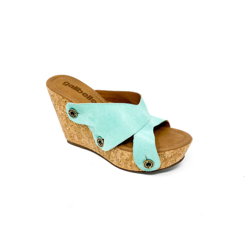 giovanna gv23 light green suede strap