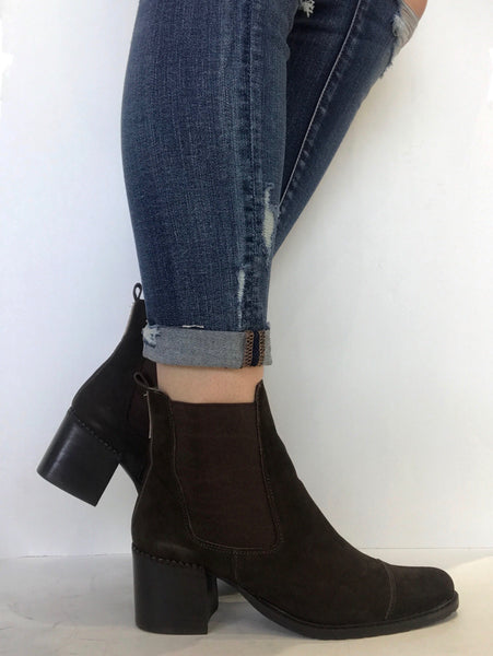 bt00 brown suede LOW ankle boot 1504010 br - galibelle