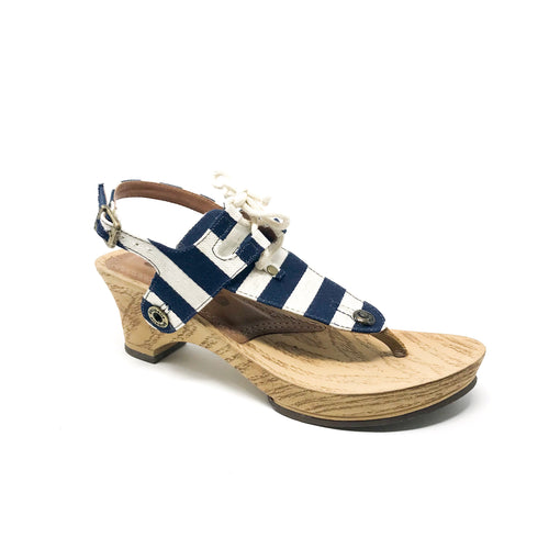 noya no05 cb9 fabric navy blue/cord natural strap