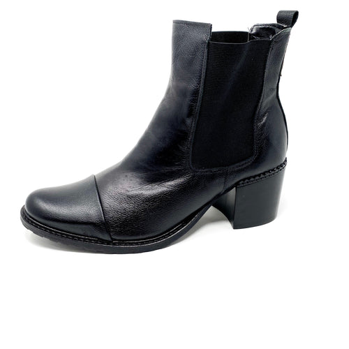 bt00 leather black LOW ankle boot 1504010 bk