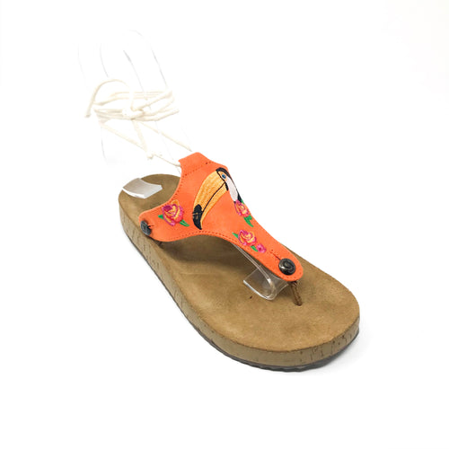 gabriela gb21 orange suede bird strap