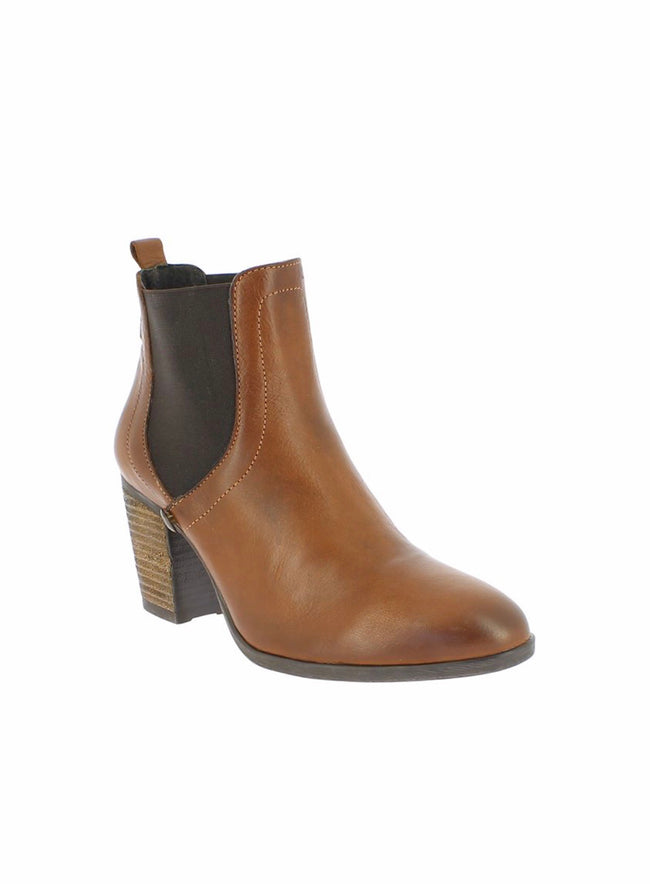 bt00 Brown Laurie leather high ankle boot
