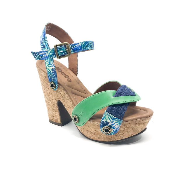 sara sr28 cb17 braid blue/satin floral green/ata green strap
