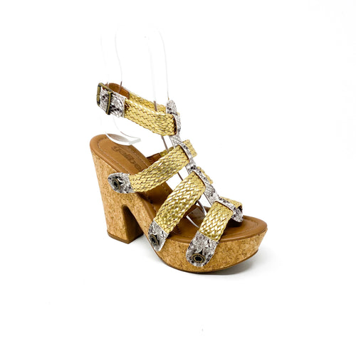 sara sr21 combo snake grey gold/ braid strap