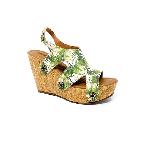 giovanna gv18 green leaves satin strap