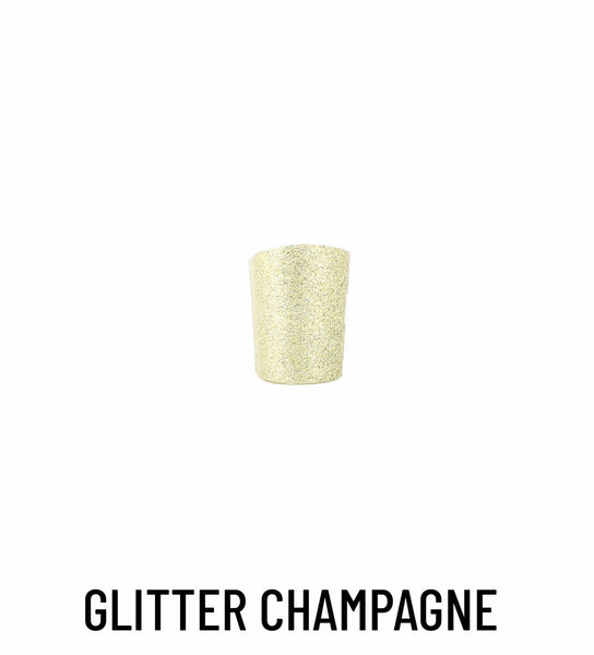 Heel cover glitter champagne