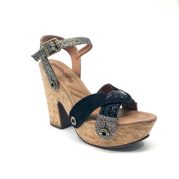 sara sr28 cb13 braid black/lurex fendi/suede black strap