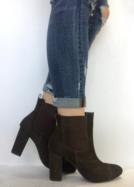 bt00 brown suede HIGH ankle boot 1504020 br - galibelle