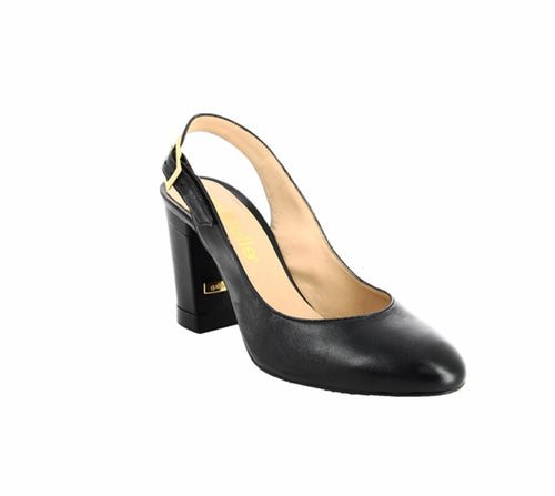 City Collection Florence black leather shoe
