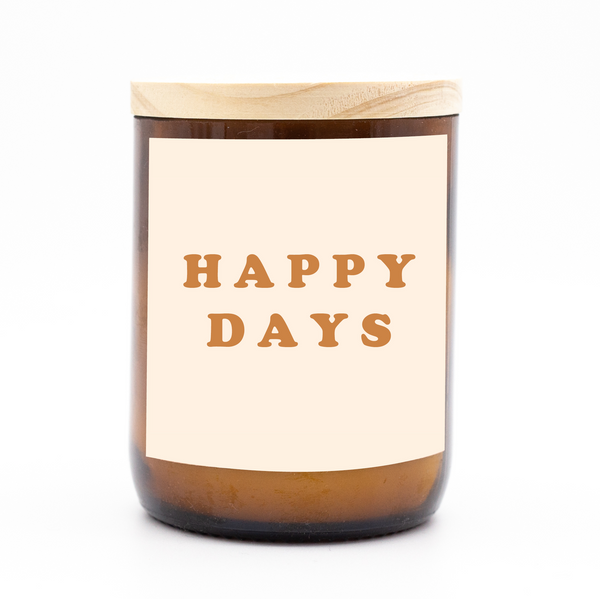 Happy Days Candle