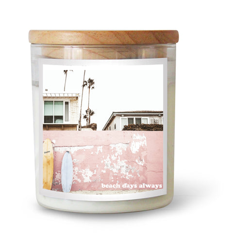 Beach Days Always Soy Candle