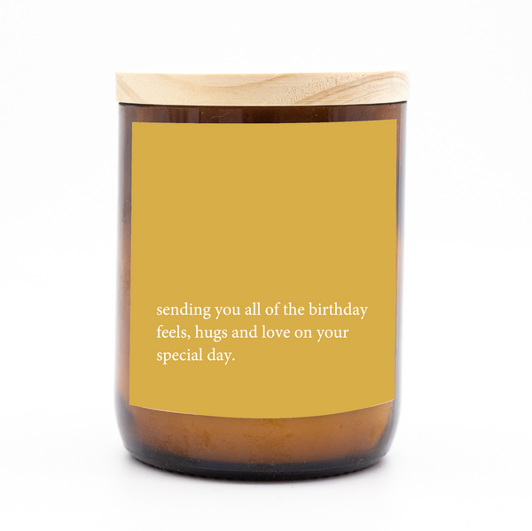 Heartfelt Quote Candle - birthday feels
