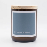 Heartfelt Quote Soy Candle - grow