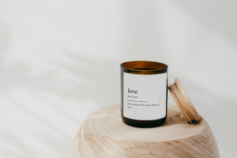 Dictionary Meaning Soy Candle - love