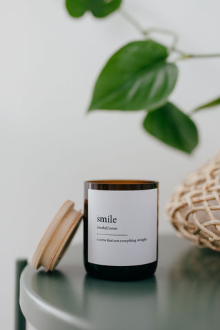 Dictionary Meaning Soy Candle - smile