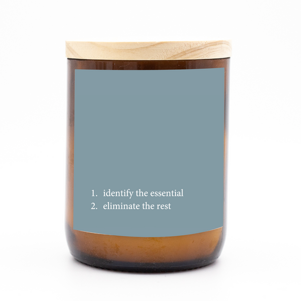 Heartfelt Quote Candle - identify the essential