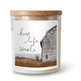 Keep Life Simple Candle