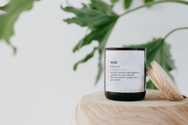 Dictionary Meaning Soy Candle - sun