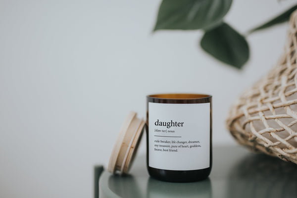 Dictionary Meaning Soy Candle - daughter