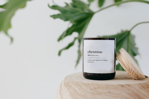 Copy of Dictionary Meaning Soy Candle - christmas