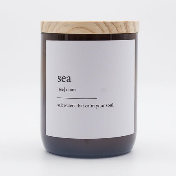 Dictionary Meaning Soy Candle - sea