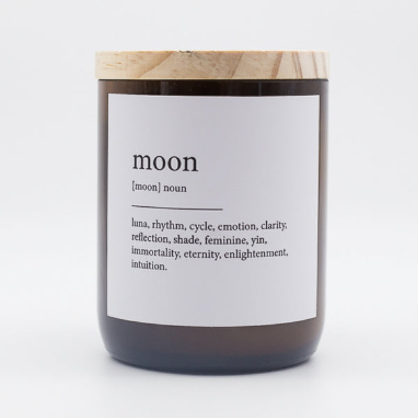 Dictionary Meaning Soy Candle - moon