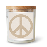 Peace Sign / OATMEAL Candle