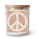 Peace Sign / PINK Candle