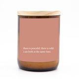 Heartfelt Quote Candle - peace + wild.