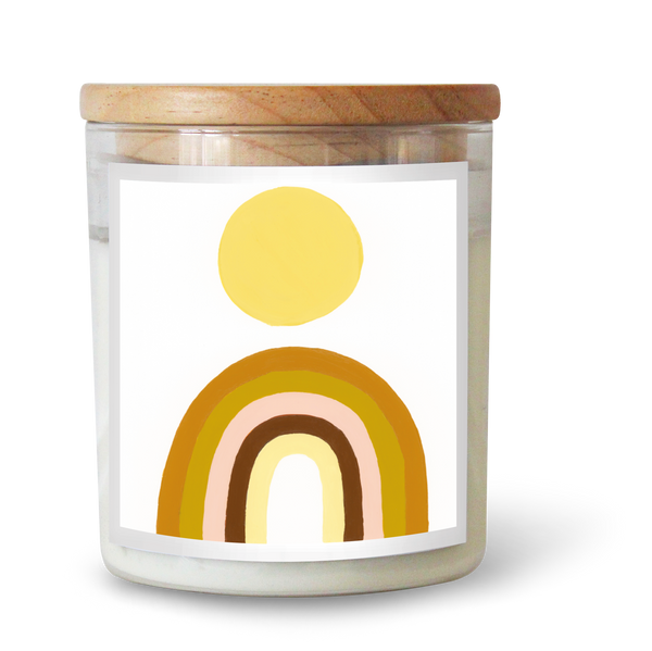 Rainbow Sun Candle by Natalie Jade