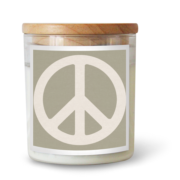 Peace Sign / SAGE Candle
