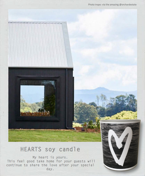 Wedding + Events Midi Soy Candle || Heart